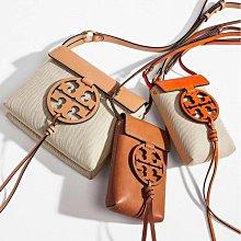美國正品 TORY BURCH 1815 Miller系列時裝走秀款 純牛皮小挎包 鏤空大LOGO搭配流蘇吊飾