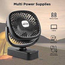 風扇(美國亞馬遜熱銷OUTXE)野營風扇帶夜燈5200mAh USB可充電帳篷風扇便攜USB野營風扇