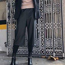 【莉莎小屋】正韓 秋冬新品(現貨-XL 尺寸偏小) 💝質感中長皮質寬褲假兩件(褲+褲)👚👖OS201123