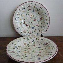 英國Staffordshire  Victorian era二件大餐碗盤