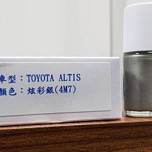 艾仕得(杜邦)Cromax 原廠配方點漆筆.補漆筆 TOYOTA ALTIS 顏色:炫彩銀 色號:4M7