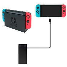 任天堂Switch主機低座 支架/充電線延長線 TYPE-C延長線DOCK視頻充電數據傳輸線(三代黑色1米)