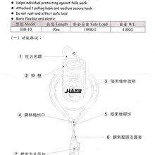 1 TIG HARU 鋼索式防墜器/鋼索6M/防墜器,防落器設備/工安設備/高空作業/安全帶/防護用具/鋼索/開口滑車