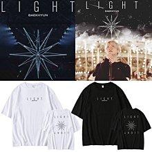 邊伯賢演唱會BAEKHYUN LIGHT周邊應援上衣服同款寬鬆男女短袖T