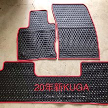 福特FORD All New KUGA 20式 MK3 歐式汽車橡膠腳踏墊 SGS無毒認證 天然環保橡膠材質耐磨