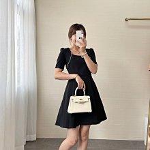 SANDRO 新款法式珍珠邊方領高腰顯瘦連衣裙 洋裝🌸 夏日人間小仙女!知性赫本風裙子,講究的裙型剪裁,超級推薦!