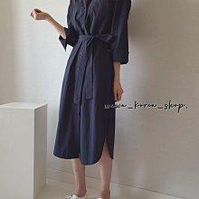 正韓:綁帶洋裝&外罩衫外套(3色)