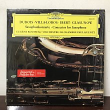晨雨黑膠【古典】德版DG/Dubois、Villa-Lobos、Ibert、Glasunow:薩克斯風協奏曲/尤金·魯梭