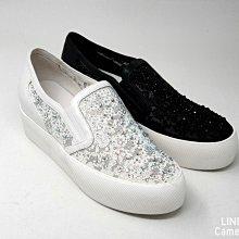 ♀️女:blingbling蕾絲閃鑽厚底休閒鞋(黑/白)、蕾絲厚底鞋、閃鑽厚底鞋、增高鞋、牛皮厚底增高鞋、歐美街頭風