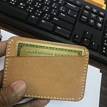 [橙園] 原色牛皮 原味 卡夾 鈔夾 。有使用痕跡 。