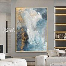 C - R - A - Z - Y - T - O - W - N 原創純手繪油畫立體筆觸油畫金箔藍天白雲抽象手繪掛畫住宅高級別墅設計師款立體抽象油畫收藏品畫