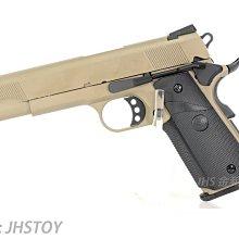JHS((金和勝 生存遊戲專賣))沙色 SRC 全金屬 MEU 瓦斯手槍 附槍盒 4304