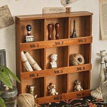 鄉村雜貨小市集*zakka 日雜款仿舊復古九格小木櫃 小物整理收納擺飾