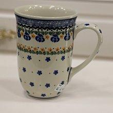波蘭陶系列_歐式古典鄉村風手工彩繪陶瓷瘦高杯馬克杯早餐杯牛奶杯手繪杯簡餐店居家餐廳