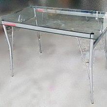 宏品二手傢俱館~中古家具 家電 K80304玻璃餐桌*咖啡桌/會議桌/洽談桌/中古 書桌椅 會議桌椅 辦公桌椅