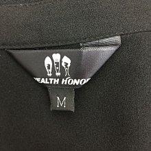 WEALTH HONOR 山形屋 女 黑色開襟短袖上衣 / M  1090520