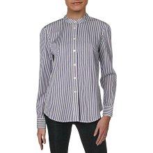 全新有吊牌美國品牌lauren ralph lauren 大尺碼紫色條紋襯衫100%cotton 棉16號
