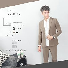 。SW。【K31195】正韓KE韓國製 修身顯瘦 質感琥珀扣 彈性萊卡西裝布 窄版雅痞 側口袋 素面西裝外套下標區 GD
