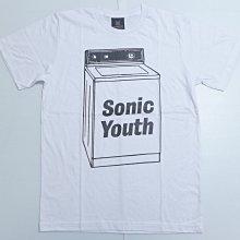 【Mr.17】SONIC YOUTH 音速青春 洗衣機 搖滾樂團T-SHIRT短袖 白色T恤 (KR047)