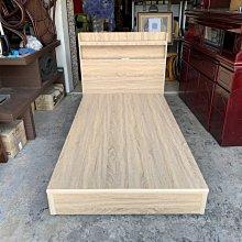 香榭二手家具*全新品 梧桐橡木色單人加大3.5x6.2尺 插座式床頭片床組-充電床片-床箱-床底-床框-雙人床架-床板