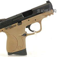 JHS((金和勝 生存遊戲專賣))沙色連發版 WE 小嘴鳥 M&P 3.8 瓦斯手槍(雙彈匣) 4442