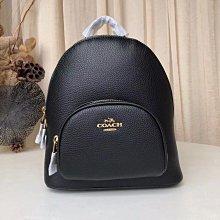 COACH 997 最新20款女生荔枝紋頭層牛皮雙肩後背包 中號雙肩包