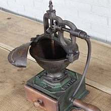 1890s法國Mutzig Framont 鑄鐵老磨豆機/古董磨豆機 (01_D-11-2)【小學樘_歐洲老家具】
