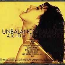 中森明94年抒情專輯 UNBALANCE 收錄陽炎 愛撫等好歌 日版 絕版