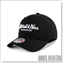 【ANGEL NEW ERA】Mitchell & Ness MN 經典排字 經典黑 老帽 有彈性 可調式 街頭 潮流