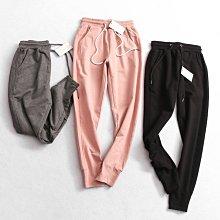 BEFE出口單 優質品質 毛圈純色運動休閒褲 三色S~2XL