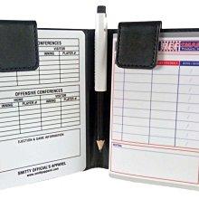 美國大聯盟專業級皮革制磁鐵吸附式棒球壘球主審攻守名單夾 LINE UP CARD