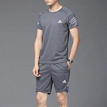 愛迪達 Adidas 三葉草 新款速乾跑步服 正韓短袖T恤 短褲 男女上衣套裝 透氣速乾排汗籃球足球運動服 非polo衫