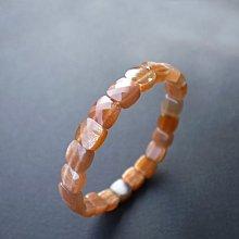 ☆采鑫天然寶石☆**橙金**頂級金彩太陽石手鍊/ 手排~點金&銀緞&彩線~執行力之石~極美細緻款