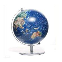 10吋 SkyGlobe衛星金屬手臂地球儀110MB.中英文版立體浮雕金屬底座教育學生地球儀擺飾台灣製造MIT