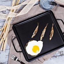 台製鐵板燒盤 烤皿 鐵板燒盤 鐵盤 烤盤 (27*30*2.5cm)