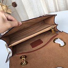 美國正品 COACH 31697 蔻馳山茶花系列鏈條包 單肩挎包 復古旋鎖翻蓋 長鏈條可伸縮手提或肩背