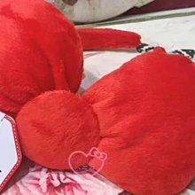 ♥小花花日本精品♥HelloKitty大蝴蝶結造型紅色髮箍髮飾配件08427601