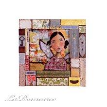 【Creative Home】Heart & Home 心戀家居系列松木少女壁飾 / 畫飾 / 壁掛