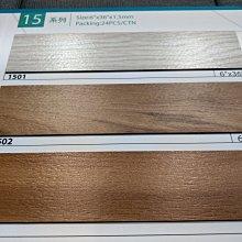{三群工班]防燄塑膠地板長條塑膠地磚 DIY價優品6X36X1.5MM每坪500元可代工服務迅速網路最低價地毯壁紙窗簾