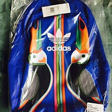 Adidas 愛迪達 三葉草 後背包 大嘴鳥 撞色 花  藍
