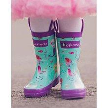 美國 OAKI 兒童提把雨鞋 11577小美人魚