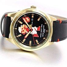 日本正版 SEIKO 精工 ALBA ACCA701 超級瑪利歐 瑪利歐 手錶 機械錶 皮革錶帶 日本代購