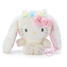 ♥小花花日本精品♥HelloKitty美樂蒂布丁狗酷洛米大耳狗帕洽狗變裝玫瑰花圈兔兔造型沙包絨毛玩偶娃娃~3