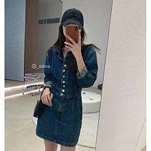 *昕衣屋*轉賣韓版排釦顯瘦牛仔洋裝