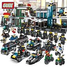 益智玩具 積木 古迪積木兼容樂高特警城市警察局軍事系列男孩子益智拼裝警車玩具 兒童DIY 兒童玩具 拼裝玩具
