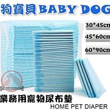 汪旺來【自取3包399】狗寶貝BABY DOG業務用寵物尿布墊50入(45x60cm)抗菌除臭/高分子吸水