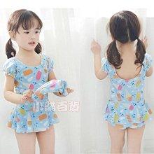 [本島當天出貨] 韓版新款 冰淇淋連身裙式中小童泳裝 平角泳衣 小童連身泳衣 泳褲 連衣裙泳衣 兒童泳衣 女童泳衣