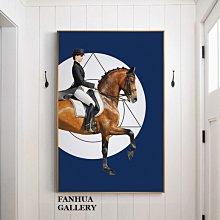 C - R - A - Z - Y - T - O - W - N 法國時尚品牌人物駿馬掛畫現代裝飾畫簡約玄關巨幅壁畫