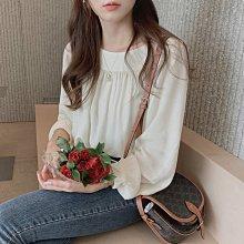 Maisobo 韓 春夏 浪漫方領純色燈籠袖襯衫 2色 Q-605 預購