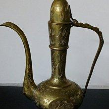 115 高級精緻印度仙壺Ornate Vintage Hand Etched Brass Container